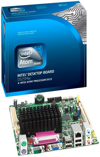 Intel (BLKD525MW), mini-ITX