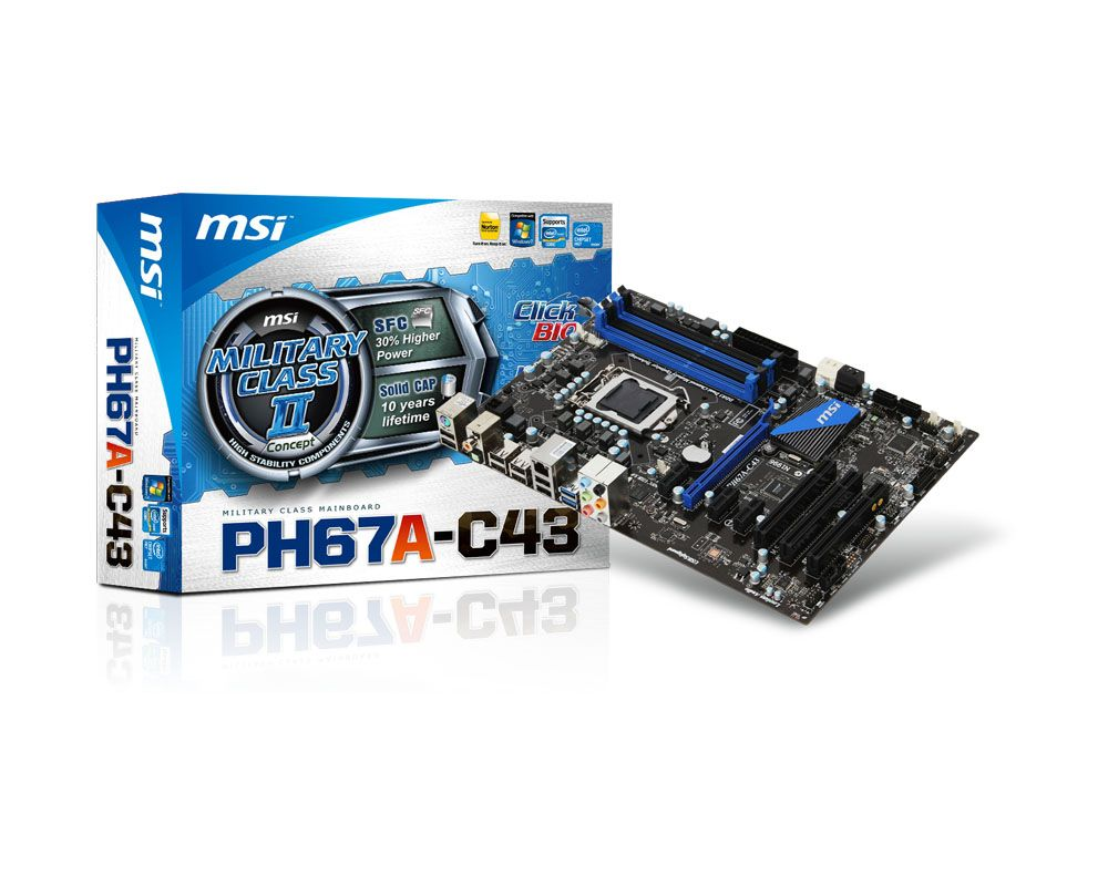 MSI (PH67A-C43), LGA1155, ATX