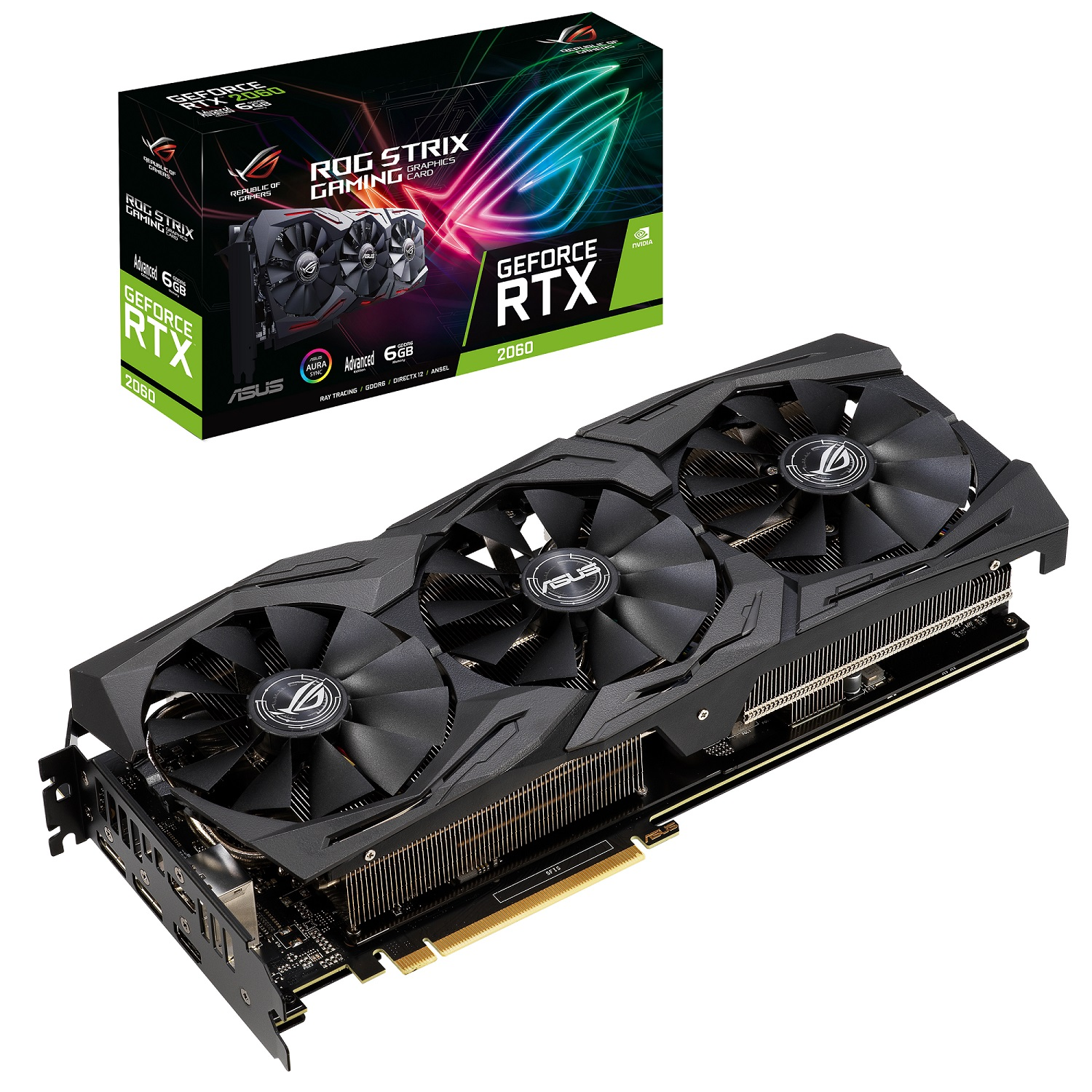 Asus GeForce RTX 2060 (ROG-STRIX-RTX2060-A6G-GAMING), 6GB, 192bit