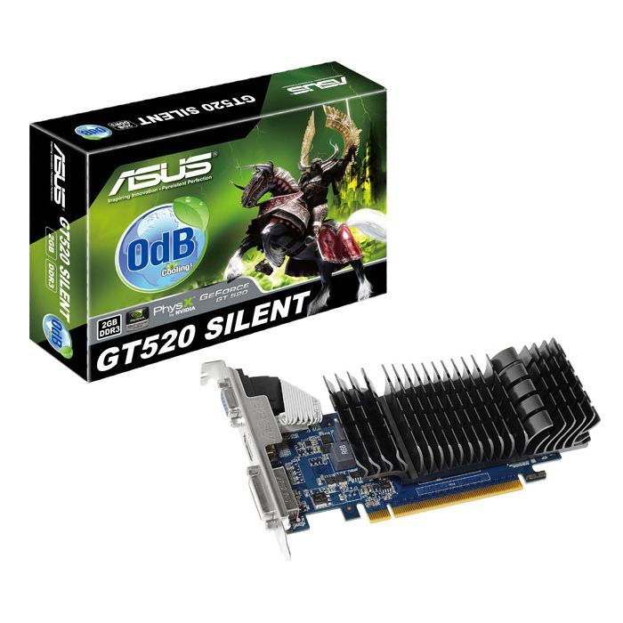 Asus GeForce GT 520 (ENGT520 SL/DI/2GD3(LP)), 2Gb, 64bit