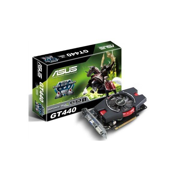 Asus GeForce GT 440 (ENGT440/DI/1GD5), 1Gb, 128bit